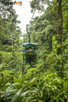 Aerial tram in the Caribbean side of Costa RIca   RePinned by : www.powercouplelife.com