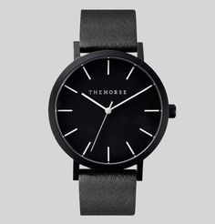 Obsessed with this Matte Black, Black Leather Watch!