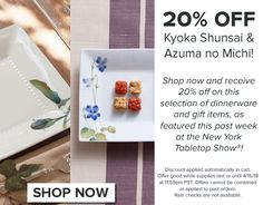 Spring is finally here, so we're celebrating with 20% off on flowers and vegetables! Link in our profile to shop. Happy weekend everyone! #noritake #noritakechina #japanesedesign #giftware #shopping #sale #japan #kyokashunsai #azumanomichi