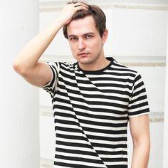 Brown Boy - Brown Boy 100% Organic Cotton Stripe Crew Neck T-Shirt. Buy Men's Tee Shirts Online in India | Brown Boy