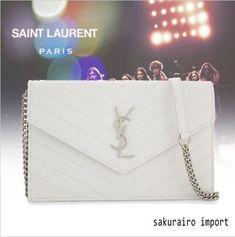 ★送関税込★Saint Laurent 18SS YSL エンベロープ クラッチ財布