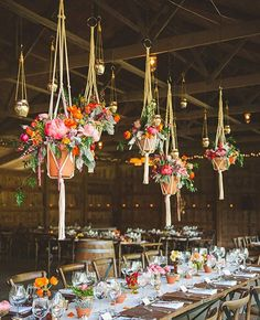 Rustic wedding decor - Macramé Matters: the Knotted Wedding Trend we (Still) Heart!