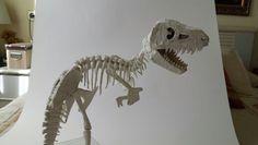 T Rex papel de Celulosa y cola blanca