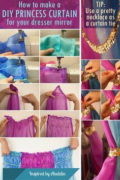 DIY Princess Curtain // Inspired by Aladdin