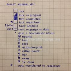 [Bullet Journal] Bullet Journal Rehashed   Decade Thirty → New bullet journal mods on my follow-up blog post here: http://interpunctedthirty.wordpress.com/2014/07/04/bullet-journal-rehashed/