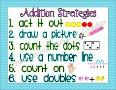 First Grade Glitter and Giggles: Math Strategy Posters... Addition Stategies