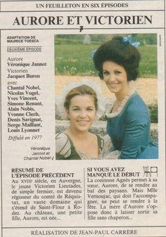 """Aurore et Victorien"" (1975) - 6 Episodes Films, Childhood, France, Memories, Movie Posters, Image, Actresses, Vintage School, French Actress"