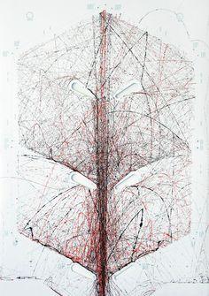 Sam van Doorn: STYN, drawings produced with pinball machine