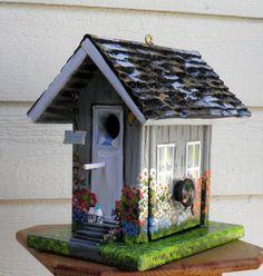Environmentally Friendly Gray Birdhouse by BirdhouseBlessings, $99.00