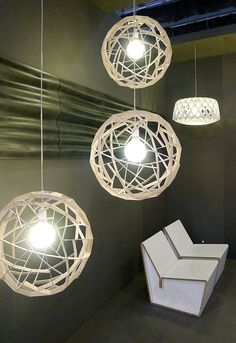 PORTABLE -HANGING -These hanging lights can be hung from the ceiling in a bedroom, living room, or even game room. This is an example of accent lighting.