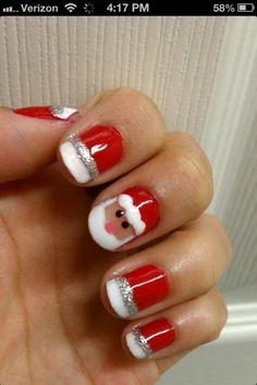 Leuke nagels met Kerst...volgend jaar proberen....
