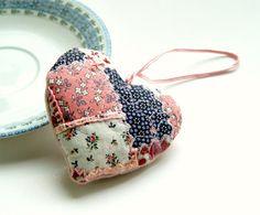 Romantic Heart Hanging Ornament pink heart by BozenaWojtaszek, $40.00