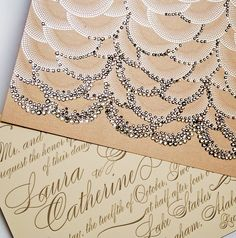Swarovski invitation
