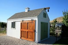 This is a little fancy, but would be a cool pool house style. Custom sheds - traditional - sheds - salt lake city - Wright's Shed Co Diy Storage Shed Plans, Storage Sheds, Traditional Sheds, Utah, Pool Shed, Pool Fence, Shed Builders, Pub Sheds, Bar Shed