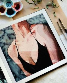 To paint, aesthetic painting, ap art, art inspo, watercolour painting Aesthetic Painting, Aesthetic Art, Aesthetic Drawings, Art Sketches, Art Drawings, Photographie Portrait Inspiration, Arte Sketchbook, Guache, Painting People