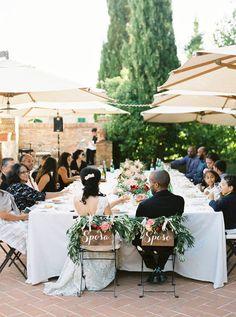 Intimate wedding reception in Tuscany, Italy. T&L May 2015. Wedding Coordination by www.tuscantoursandweddings.com