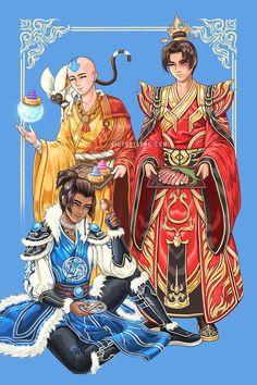 Team Avatar Boys, Aang Zuko Sokka Print, Avatar the Last Airbender Art Home Decoration, Art Collections