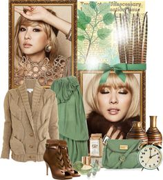 """Mint in the Fall"" by farfalla13 ❤ liked on Polyvore"