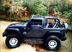 My Blue Baby. 2 Door Jeep wrangler 6 inch lift 37.5 inch Nitto Mud Grapplers. 4x4 #love-em-topless