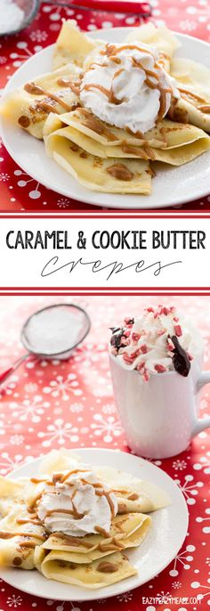 Caramel and Cookie Butter Crepes are quick, easy,and delicious. They make for a great holiday party food since you can make them ahead and freeze them. @BigLots #ad #BigLots #BIGSeason - Eazy Peazy Mealz