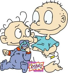 "Rugrats: Dil and Tommy Pickles (brothers yr a part"") Dil Rugrats, Rugrats Cartoon, Rugrats Characters, Black Cartoon Characters, Cartoon Books, Cartoon Wall, Cartoon Drawings, Spongebob Drawings, Stickers"