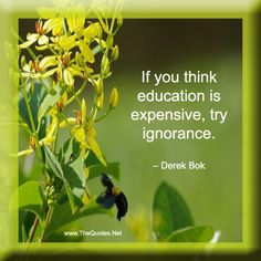 If you think education is expensive, try ignorance – Derek Bok Words Of Wisdom Quotes, Wise Words, Quotes To Live By, Me Quotes, Motivational Quotes, Inspirational Quotes, Knowledge Quotes, Think Education, Education Quotes
