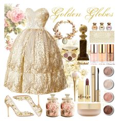 """""""Golden Globes"""" by michal100-15-4 ❤ liked on Polyvore featuring Pixie, Cameo, Tocca, Dsquared2, Tony Moly, Terre Mère, Eve Lom, Dolce&Gabbana, Yves Saint Laurent and tarte"""