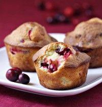 Muffins aux airelles et au chocolat blanc