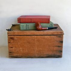 Primitive Wooden Box with Lots of Character and by leapinglemming, $24.95