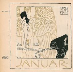 "fuckyeahvintageillustration: "" Art nouveau calender published in 'Ver Sacrum' magazine, illustrated by various artists including Gustav Klimt and Koloman Moser. Source """
