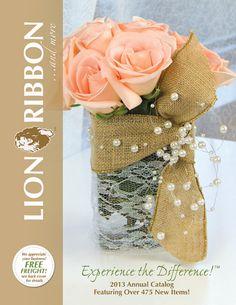 Great floral arrangement ideas www.LionRibbon.com