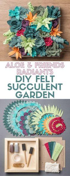 Aloe and Friends - Radiants | Apostrophe S Craft Kit | Felt Succulent Garden | Indoor | DIY