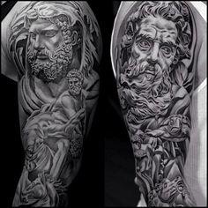 Amazing tattoo by jun cha.