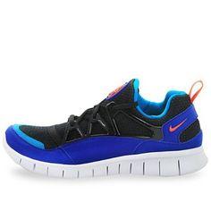 new style 4a9fa 60e83 Mens Nike Free Huarache Light Running Shoes Black   Team Orange   Concord  Blue   Turquoise 555440-085 Nike.  99.95