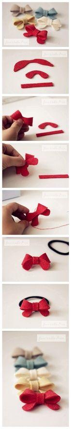 diy felt ribbons....wish I had little girls (like for a second). Love my boys!