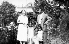 Harlem Renaissance poet Anne Spencer and her husband Edward, shown here with two of their grandchildren in 1940, were a design team. Anne designed her garden and Edward constructed it to provide her with a sanctuary to write her poetry and to entertain such distinguished African-American scholars, artists, and political leaders such as Langston Hughes, W.E.B. Du Bois, and James Weldon Johnson. (Photo: Courtesy of Jane Baber White, Archives of the Southern Memorial Association.) Harlem Renaissance Poets, James Weldon Johnson, Norton Anthology, American Poetry, University Of Virginia, Political Leaders, Award Winner, Warwick House, Evolution