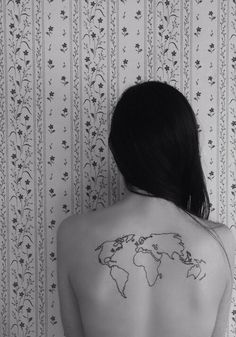 Map tattoo- would add dots of the places I've traveled.