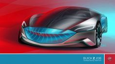 Buick Z Job Concept - design sketch by Scott Wo Kaiser