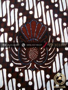 Kain Batik Cap Jogja Motif Parang Gendreh Ceplok Gurdo-2 | Indonesian Batik Fabric Pattern Design http://thebatik.co.id/kain-batik-bahan/