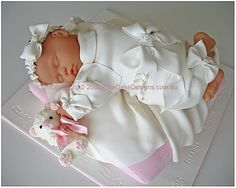 sleeping baby christening cake, this is just gorgeous!