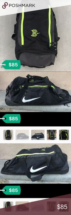 Baseball/Softball catcher bag This bag is very spacious, with lots of room for an athlete. The wheels roll very smoothly, the bag was used only a few times. Nike MLB Bags
