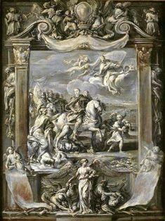 Ciro Ferri ~ Apotheosis of John III Sobieski - Grisaille, Art And Architecture, Fresco, Lithuania, Painting, Crown, Royals, Poland, Fresh