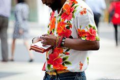 Floral Print Men's Shirt New York Fashion Week SS13