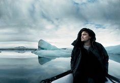 """""""The time to answer the greatest challenge of our existence on this planet is now. You can make history or be vilified by it.""""  Leonardo DiCaprio photographed by Annie Leibovitz at the Jökulsárlón glacier lagoon in Iceland. #VFArchives #HappyEarthDay  via VANITY FAIR MAGAZINE OFFICIAL INSTAGRAM - Celebrity  Fashion  Politics  Advertising  Culture  Beauty  Editorial Photography  Magazine Covers  Supermodels  Runway Models"""
