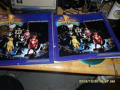 2 1996 calanders Mighty Morphin Power Rangers by saban Entertainment
