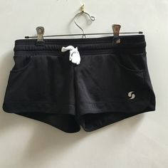 Soffee black low rise athletic gym shorts Size XS. Wore them once. Black and white. No tears etc. perfect condition. Make an offer :) Soffe Shorts