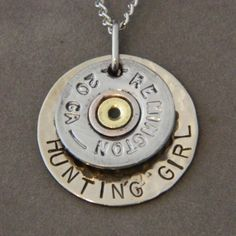 Bullet Necklace for the Hunting kind of Girl!  I don't even hunt and I think this is amazing! ^_^