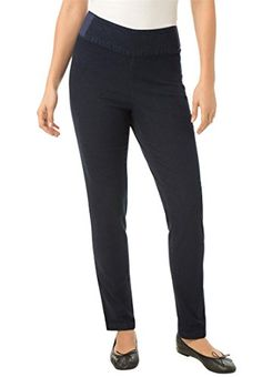 Fashion Bug Women's Plus Size Smooth-Waist Skinny Fit Jeans In Fineline Denim www.fashionbug.us #PlusSize #FashionBug #Jeans
