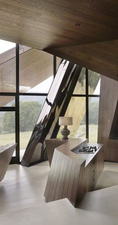 Contemporary kitchen. House in New England by Daniel Libeskind