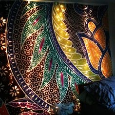 Add lights behind a tapestry